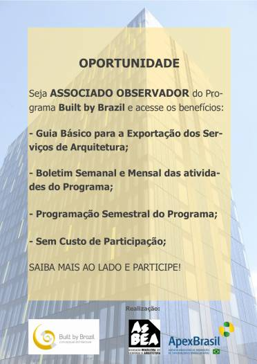 Associados Observadores: Participe do Built by Brazil sem Custos!