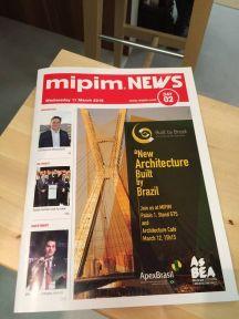 Built By Brazil é capa da publicação oficial do MIPIM